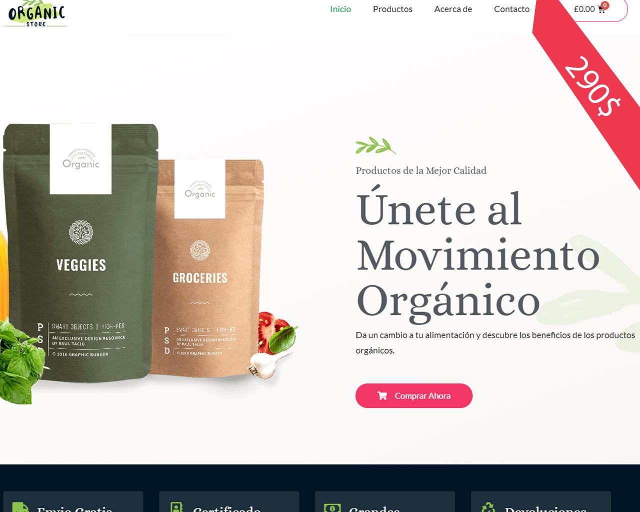 Demo web Tienda Organica